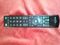 Remote control for TVonics freeview recorder set top box model DTR HD500.