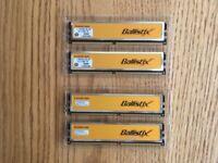 Crucial Ballistix Memory 4GB (4x1GB)