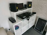 White Ikea Custom Built DJ Stand