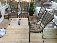 4 Wicker Woven Bamboo / Cane Dining Room Chairs, bought from John Lewis