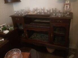 Display sideboard mahogany and glass