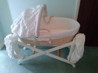 Used Mothercare moses basket and mattress