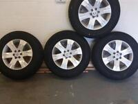 Nissan navara alloy wheels & tyres x 4