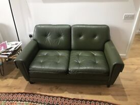 Retro 1960 Danish Leather Sofa
