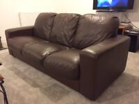 BROWN 3+2 SEATER SOFAS - MUST GO ASAP - FREE DELIVERY SOME AREAS - £265