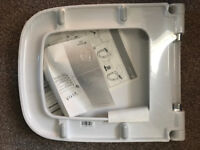 BRAND NEW SQUARE TOILET SEAT, STILL IN THE PACKAGING