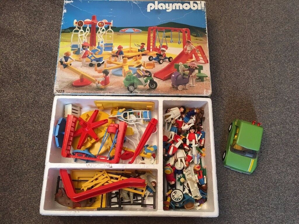 Playmobil Playground set and extra's in box - very good condition