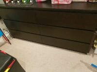 Ikea Black/Brown Malm Drawers - bargain price!