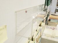 Acrylic Shelf Fixing Display Rack for Retail Shelving - 24 units available