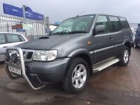 2005 05 NISSAN TERRANO 2 2.7 TURBO DIESEL SEVEN SEATER 4x4 4WD OFF ROAD GREAT FOR TOWING LONG MOT !