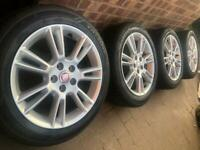 """As New 17"""" Genuine Jaguar XE Crux alloy wheels +tyres 5x108 Volvo S60 Ford Smax Mondeo CAN POST"""