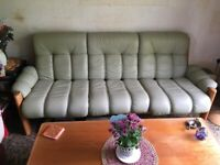Beautiful Leather Sofa with 2 Matching Chairs