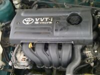 2001-2008 TOYOTA AVENSIS/COROLLA 1.4 VVTI 4ZZ-FE ENGINE SUPPLIED AND FITTED 52,000 MILEAGE ONLY