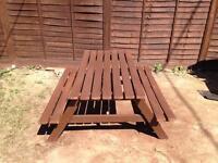 Garden picnic pub style bench