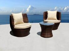 3pc STACKABLE Outdoor Wicker Setting (Brown or Black) BRAND NEW! Castle Hill The Hills District Preview