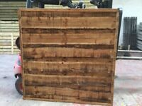 Super heavy duty waneylap fence panels 10mm boards pressure treated brown