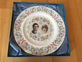 1981 Royal wedding plate