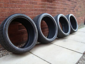 4x tyres 255/35/19 hankook ventus s1 evo 2 and 2 x effiplus good condition.