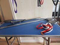 "37"" adjustable height grooming table"
