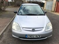 2002 Honda Civic 1.4 i Vision Limited Edition 5dr Manual @07445775115