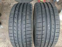 2x 225/40/18 kumho tyres 6-7 mm