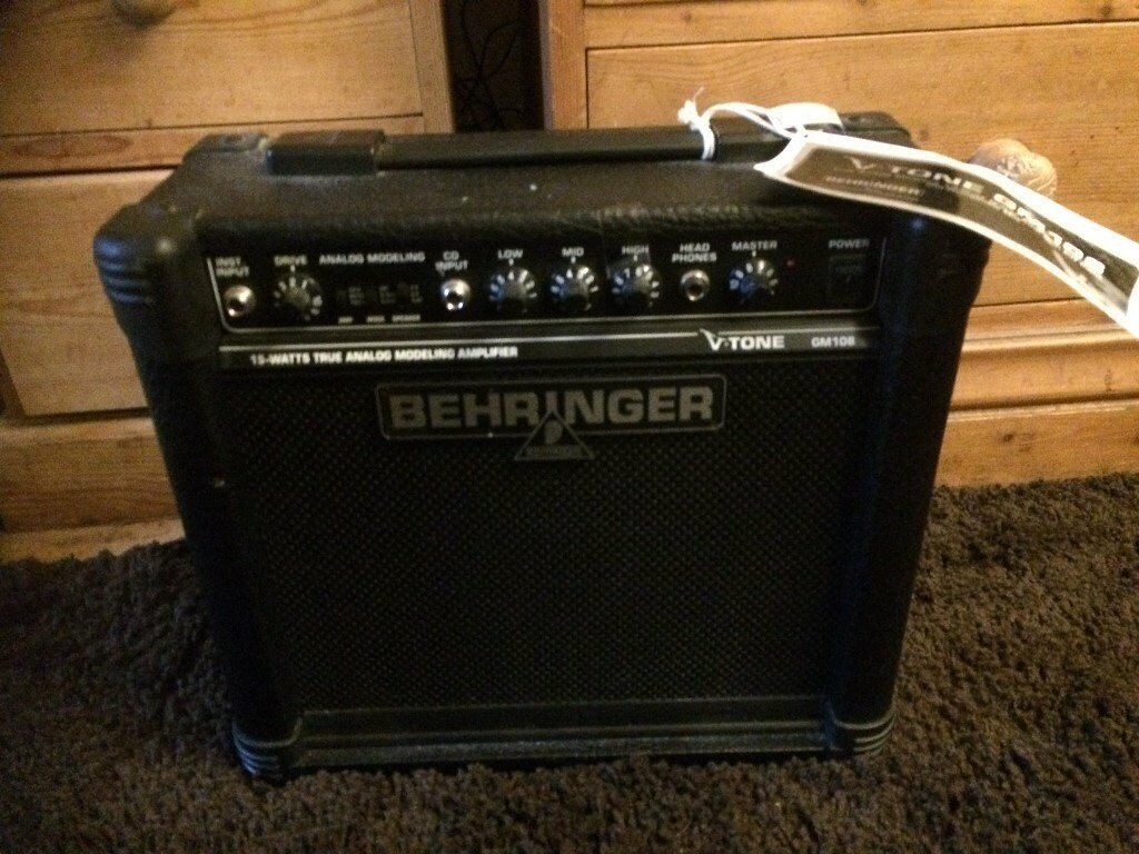 NEW with tags Behringer V Tone GM 108 Analog Modeling Amplifier 15 WATS GUITAR AMP