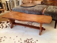 solid elm wood coffee table excellent condition