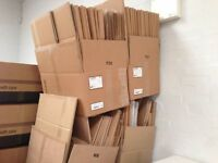 OFFER!! Cardboard Boxes of various sizes approximately 500 -buy as many as you want from 40p per box