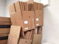 Cardboard Boxes of various sizes approximately 300 - buy as many as you want from 50p per box