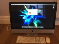 """Apple iMac 27"""" 3.4ghz i7 Quad Core, 16gb Ram, 1tb Drive, Radeon 6970 1gb"""