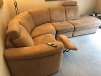 4 piece Corner Sofa with electric recliner