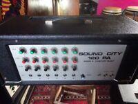 sound city 120watt mixer\amp,multiple use