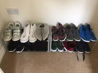Two shoe racks