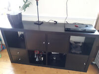 Ikea Expedit (now Kallax) 4x2, dark brown with 3 doors and 2 drawers