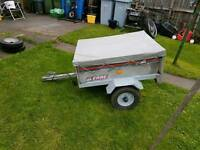 Erde 101 trailer with cover