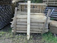 Timber half round fence post 100mm-125mmx1.65m