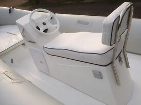 New Double Jockey console seat for RIB rigid inflatable boat suits Mercury 420 460 or similar