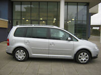 2004 vw touran 1.6 automatic, 7 seater, 2 owner,12 month mot,sat nav 75k met silver, hpi clear 100%