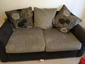2 2/3 seater sofas. 1 is a sofa bed.