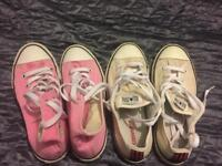 2 pairs Converse - size 2