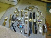 Job Lot Bulk Carboot Collection of Quartz Watches with Batteries
