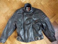 "Motorcycle jacket Ladies size 14 leather ""Wolf ""Make"