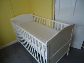 Cotbed & Mattress - In Excellent Condition