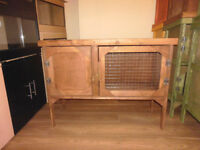 brand new 3ft rabbit guinea pig hutch in dark oak