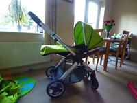 Oyster 2 pushchair and car seat for sale