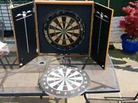 Used cabinet dart board
