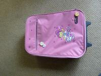 Pink Angels kids roller travel bag