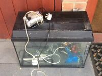 Fish tank , filter, pump, heater etc