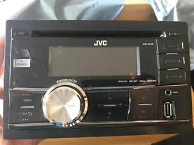 JVC KW R400 double din stereo good condition