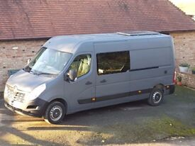 NEW Campervan Van Conversion Renault Master LWB 3 Berth With Double Bed And Toilet